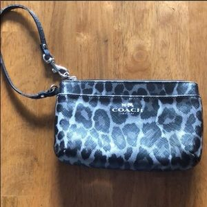 Mini Coach Animal Print Wristlet